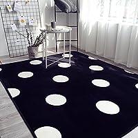 Ukeler Black and White Children Crawling Mat Non-slip Thicken Washable Carpet for Nursery Room, 59x74.8, Polka Dot 1