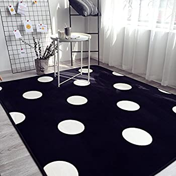 Amazon Com Ikea Ullgump Area Rug Polka Dot Low Pile Black