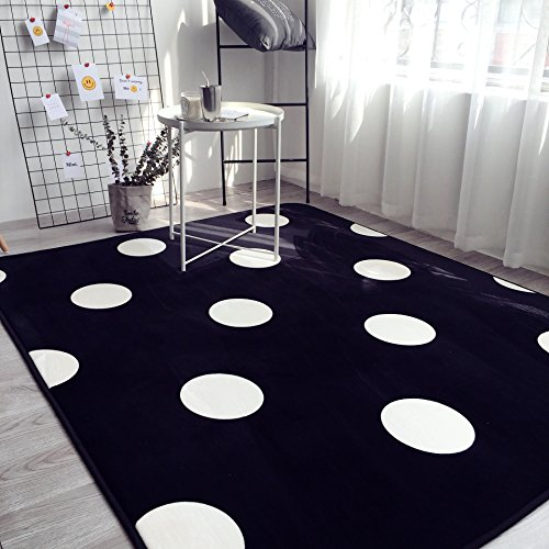 Furniture Polka Dot (Ukeler Black and White Children Crawling Mat Non-Slip Thicken Washable Carpet for Nursery Room, 59''x74.8'', Polka Dot 1)