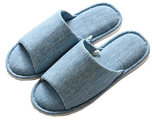 Fieltro Verano Espuma Casa Zapatillas Interior Forro Mujer Algodón Antideslizante Lijeer Pantuflas Natural Blue Slippers 1 Unisex Memoria gTwFqn