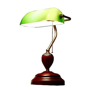 LHL-Lámparas de Escritorio Lámpara de Mesa Retro Americana ...