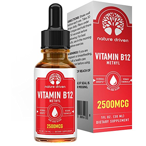 Vitamin B-12 Drops (2 FL OZ) :: Enhanced Complex for Energy:: Promotes Immune Health :: Encourages Healthy Mental Activity :: 30 Day Supply :: Nature Driven