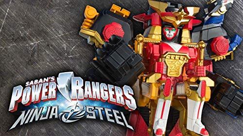 Power Rangers Ninja Steel Megazord Edible Frosting Image 1/4 sheet Cake Topper]()