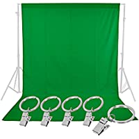 Neewer® Photo Studio 6 x 9FT / 1.8 x 2.8M Pure Muslin Collapsible Backdrop with 5-Pack Spring Clamps for Photography,Video and Television(Green)