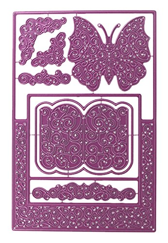 Cheery Lynn Designs B570 A2 Fancy Step Card Kit Die Cut (Set of 8) by Cheery Lynn Designs B01CHNM9QU