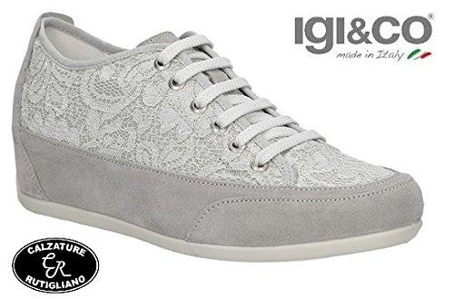IGI CO Scarpe Donna Sneaker con Zeppa Perla Plantare Estraibile - 77871 (36  ... fdbfd2687cc