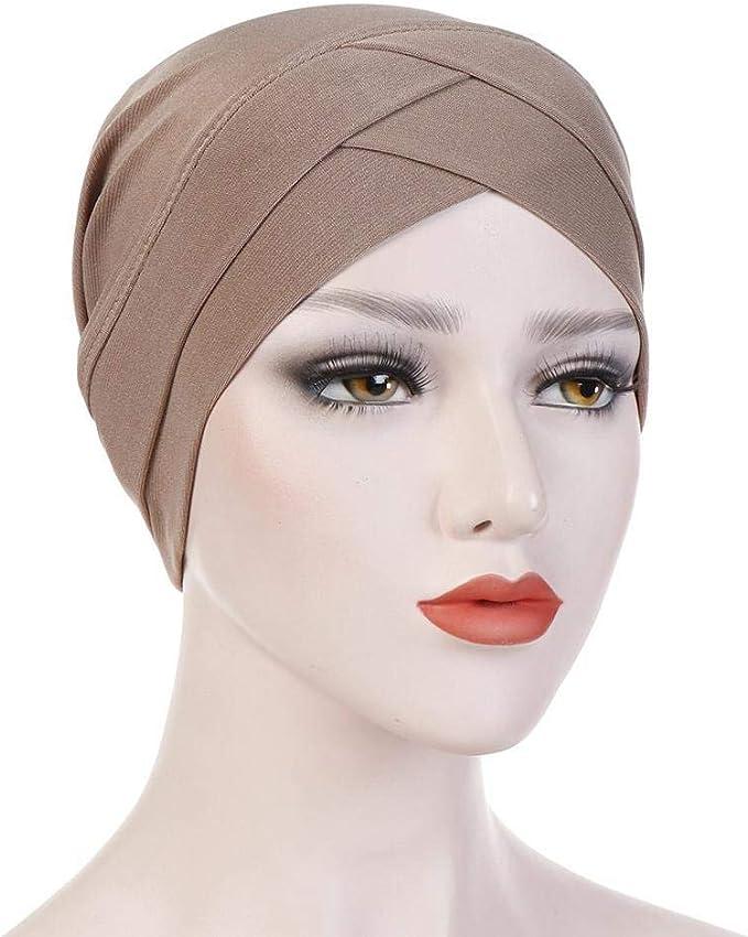 Damen Turban Cap Mütze Hijab Muslim Chemo Hut Stirnband Kopfbedeckung Kopftuch