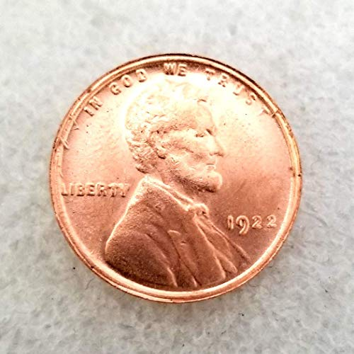 One Cent Us Coins - MarshLing 1922 Antique US Liberty One-Cent Coin - Great American Lincoln Commemorative Coins - USA Uncirculated Morgan Dollars-Discover History of US Coins Perfect Quality
