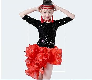 ZHANGQIAN Vestido de Baile Latino para niñas, niños, niñas ...