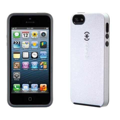 Speck Smartflex Shine iPhone 5s and iPhone 5 Case - Pearled White / Slate Grey