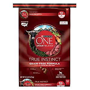 Purina ONE SmartBlend True Instinct Natural Grain-Free Formula with Real Beef & Sweet Potato Adult Dry Dog Food - 12.5 lb. Bag