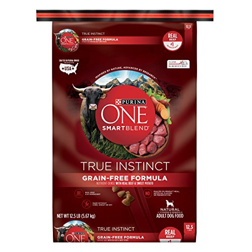 Purina ONE SmartBlend True Instinct Natural Grain-Free Formula with Real Beef & Sweet Potato Adult Dry Dog Food - 12.5 lb. ()