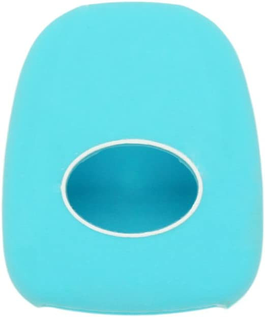 SEGADEN Silicone Cover Protector Case Holder Skin Jacket Compatible with TOYOTA 4 Button Remote Key Fob CV2407 Light Blue