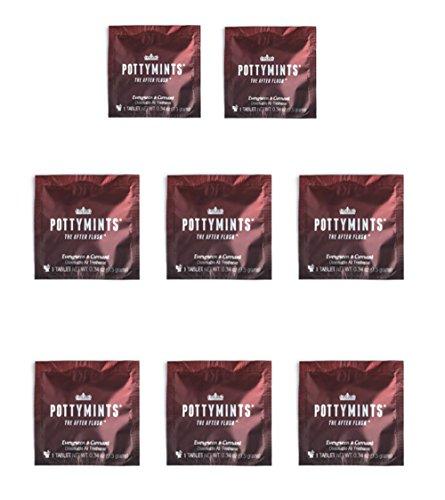 PottyMints Evergreen & Currant Travel Bathroom Toilet Odor Eliminator Air Freshener Tablets 8 Pack ()