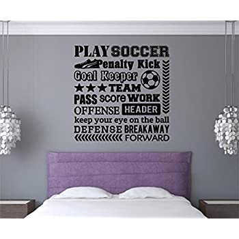 Soccer Girl With Custom Name NumberSoccer Wall Decal Removable - Custom vinyl wall decals removable