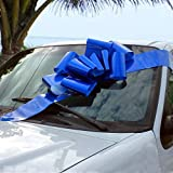 """Big Royal Blue Car Bow - 25"""" Wide, Large Ribbon Gift Decoration, Fully Assembled, Christmas, Birthday, Graduation, Boxing Day, Store Front Display: more info"""
