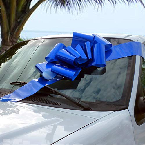 Big Royal Blue Car Bow - 25