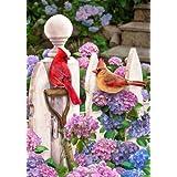 Cardinal Hydrangea Spring Summer Garden Flag 12 x 18