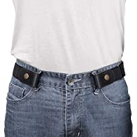 "No Buckle/Show Belt for Men Buckle Free Stretch Belt for Jeans Pants 1.38"" Wide"