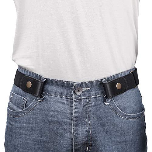 No Buckle/Show Belt for Men Buckle Free Stretch Belt for Jeans Pants 1.38