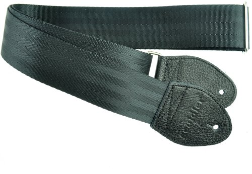 Souldier Custom GS0000BK04BK Recycled Seatbelt Electric Guitar Strap, Black