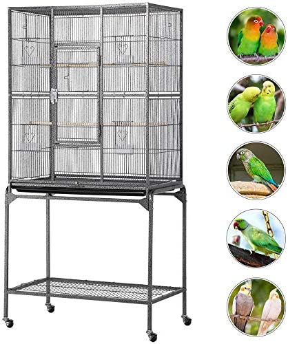 Topeakmart 63-inch Wrought Iron Large Parrot Bird Cage Cockatiel Conure Mid-Sized Parrot Cage