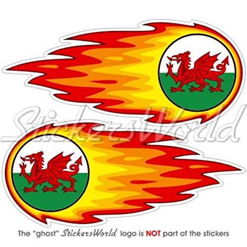WALES Welsh CYMRU Flaming Fireball Fire 5