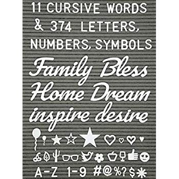 Letter Board Words And Extra Letters Set 11 Cursive Words 374 Letters Numbers