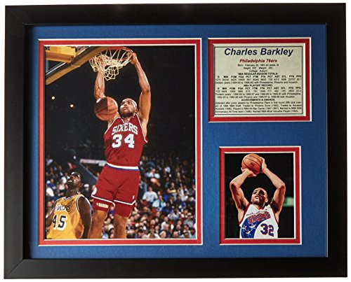 Legends Never Die  Charles Barkley 76Ers  Framed Photo Collage  11 X 14 Inch