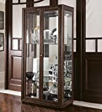 Product review for American Drew Miramar Glass Curio Display Cabinet in Auburn finish with Dentil Moulding