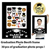#2: Graduation Photo Booth, Picture Frame cut out, Graduation Party Supplies 2018, Graduation Decorations, set of 30pcs Graduation Photo Props, Posing Props, Class Of 2018, Graduation Photo Props
