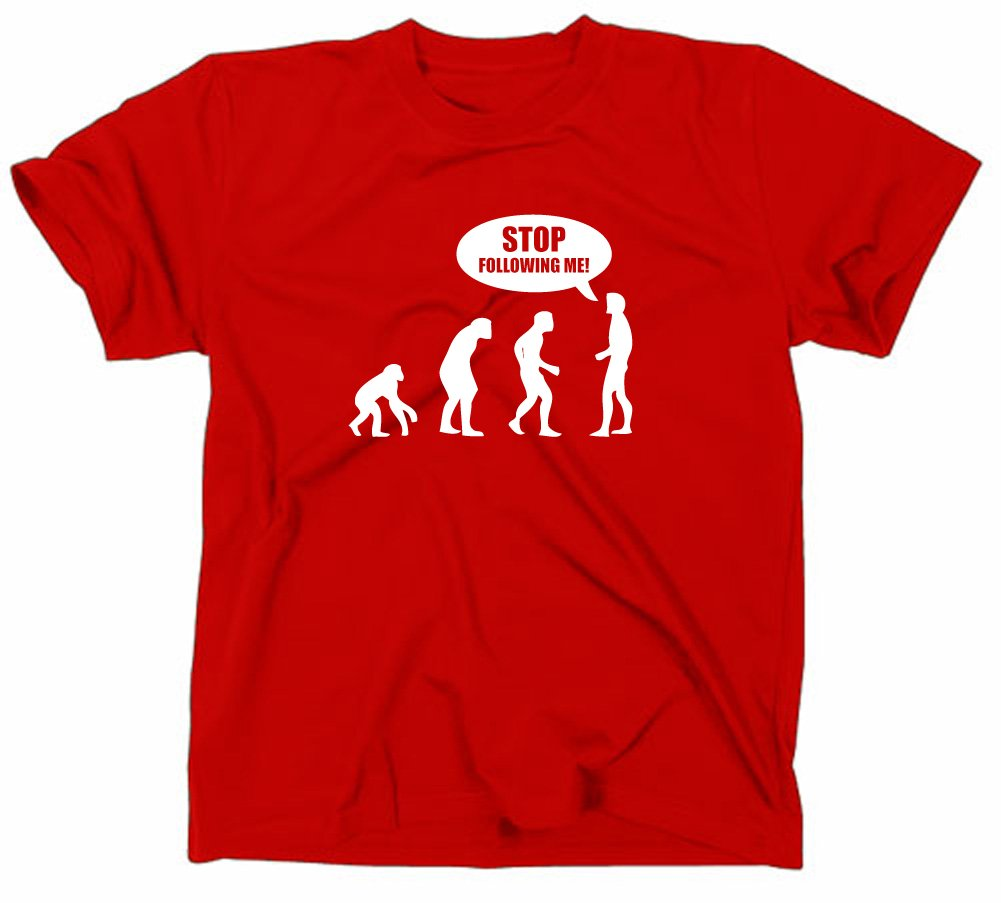 Stop seguenti Me Evolution funny T-Shirt, somewhere, nerd