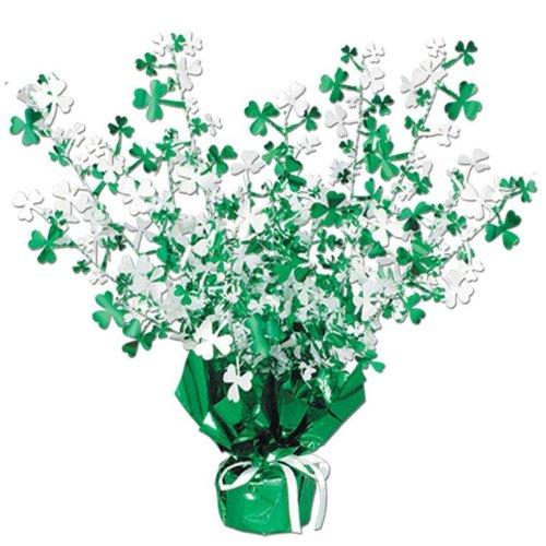 [Shamrock Gleam 'N Burst Centerpiece Party Accessory (1 count) (1/Pkg)] (St Patricks Day Shamrocks)