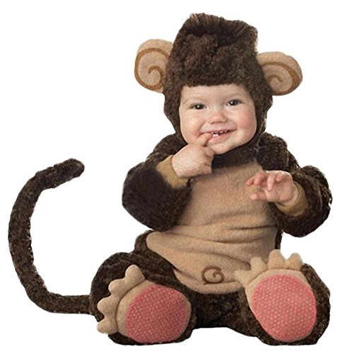 Cute Monkey Costume (Baby Infant Cute Lamb Wool Monkey Jumpsuits Suits Party Costume Photo Prop (6-12 Months))