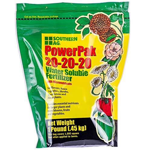 Southern Ag PowerPak 20-20-20 Water Soluble Fertilizer w/micronutrients, 1lb bag