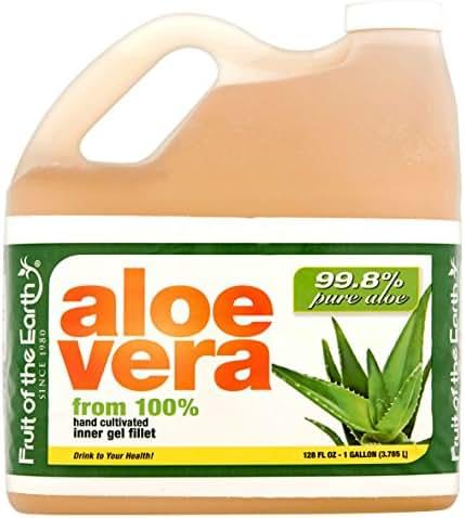 Fruit Of The Earth Aloe Vera Juice With 99.8% Aloe, 128 Fl. Oz. Jug