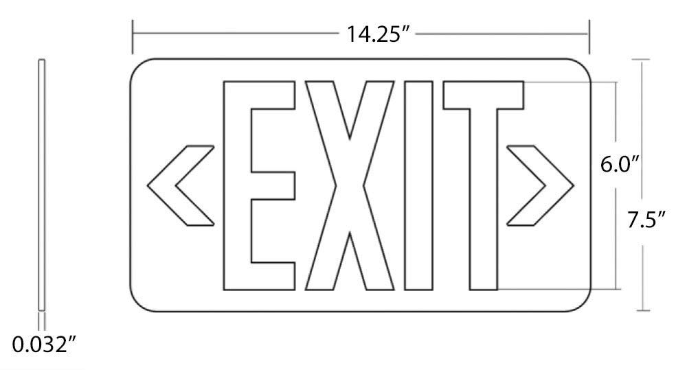Black Wireless Exit Sign by Carpenter Lighting (Image #1)
