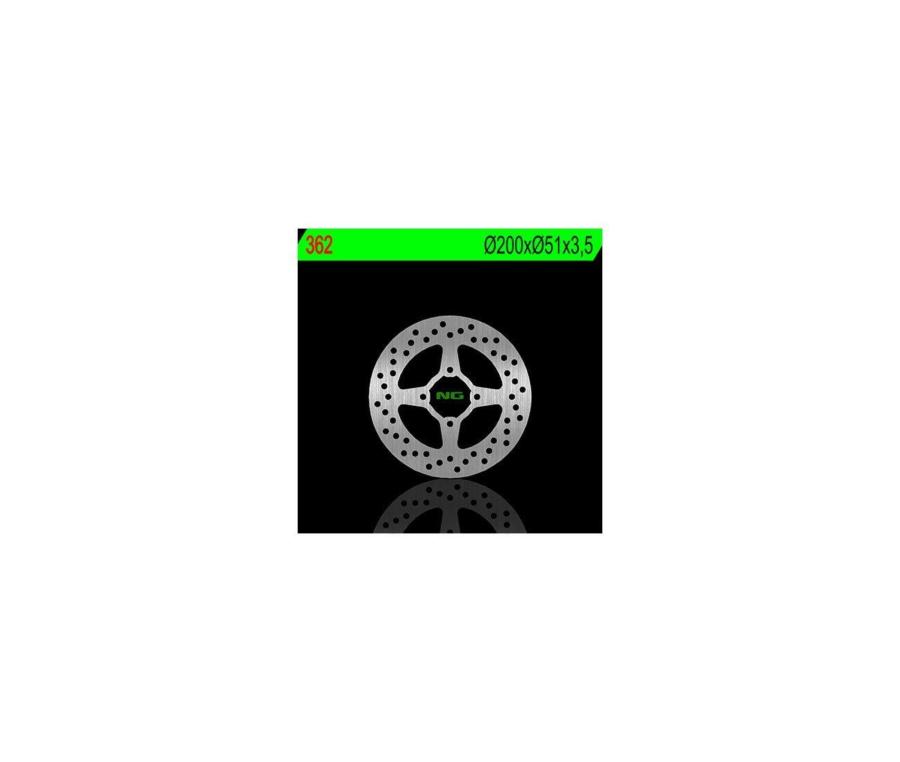 Compatible avec YAMAHA YFM 250-350 R RAPTOR//YFZ 450-DISQUE DE FREIN ARRIERE NG-350362
