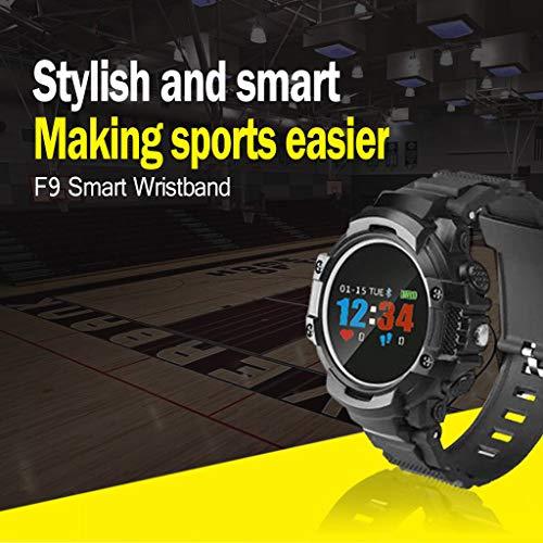 Fstn Lcd - Fullwei Sport Smart Watch, Blood Pressure Heart Rate Monitor Watch,FSTN LCD Screen Intelligent Waterproof,Access Remote Photo,Multi-Motion Mode (Black)