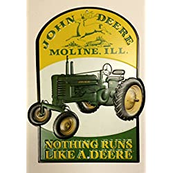 John Deere Nothing Runs Like a Deere Tin Sign 8 x 10in