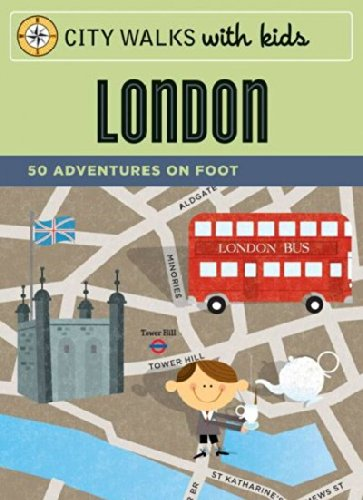London: 50 Adventures by Foot (City Walks with Kids) [Cards](Chinese Edition)