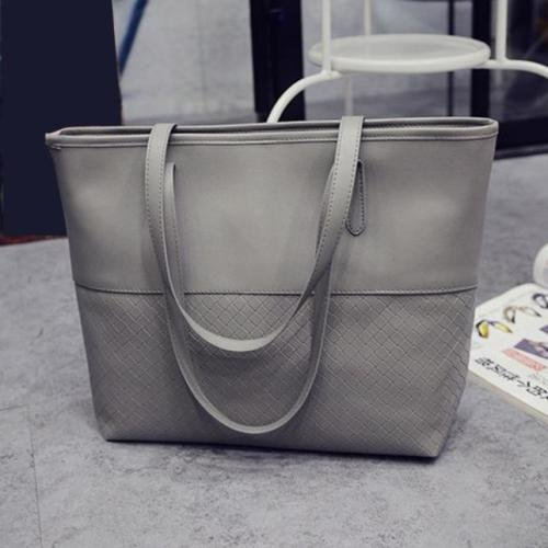 XENO-HOT Women Handbag Shoulder Reversible Tote Satchel Messenger Bag Hobe Purse(gray)