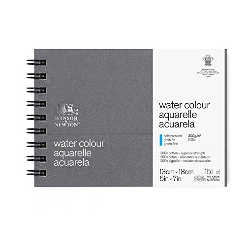 Winsor & Newton Professional Watercolor Paper Journal, Cold Pressed 140lb, 5x7, White