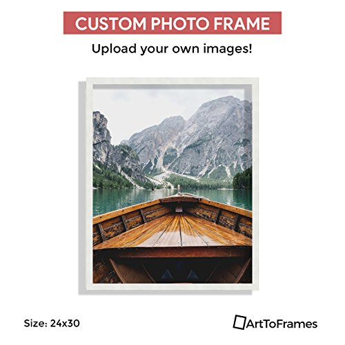 Custom Framing on Amazon Custom Printed High Definition Quality Photo 24 x 30 , Framed in Satin White