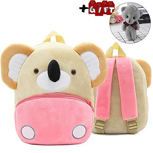 Children Toddler Preschool Backpack Plush Animal Cartoon Backpack Baby Kids School Satchel Travel Lunch Bags(Koala)