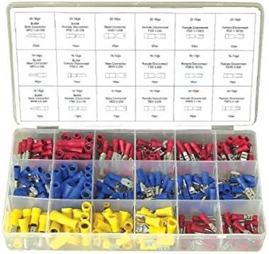 VOSAREA 450PCS Terminali elettrici a crimpare Connettori elettrici a crimpare Connettori terminali isolati