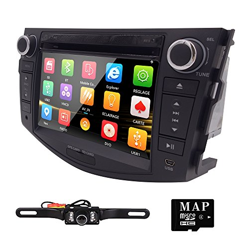7'' 3G BT iPod GPS Car DVD Player Radio For Toyota RAV4 2006 2007 2008 2009 2010 2011 2012+Camera by Navihouse