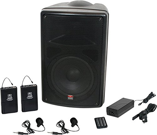 (Galaxy Audio TQ8-24VVN Traveler Quest 8 TQ8 Battery Powered Portable PA Speaker System With Two Receivers and Two Lav Microphones)