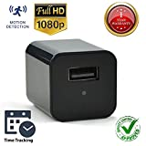 Hidden Spy Camera [Newest model] Smart Mini Spy Charger With Motion Detection and Loop Recording – Storage up to 32gb – By Vicksa