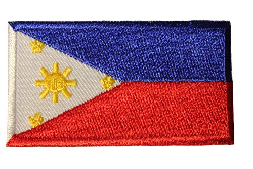 (Philippines Country Flag Small Iron on Patch Crest Badge .. 1.5 X 2.5 Inches ... New)